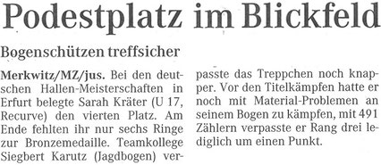 Artikel - Deutsche Meisterschaft in Erfurt 2005