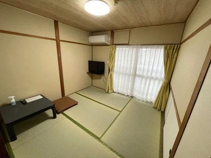 207号室 畳でのんびりおくつろぎください