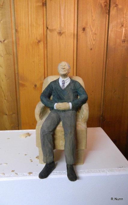 Portrait Figur aus Holz
