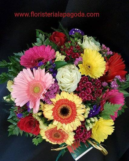 Cesta de flores variadas  ref C10 PVP 55€
