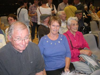 Yvonne, Monique et Philippe les bénévoles de Clopin-Clopant