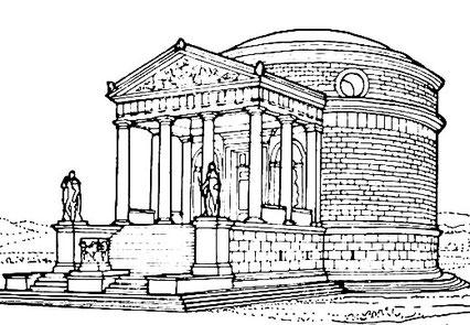 Ipotesi ricostruttiva del Mausoleo