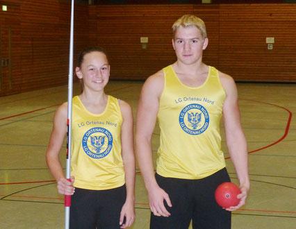 Kaderathleten des LFV Nicola Müller und Tobias Hoffmann