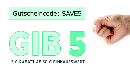 5 Euro Rabatt ab 30 Euro Einkaufswert