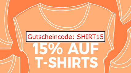 15% Rabatt auf T-Shirts