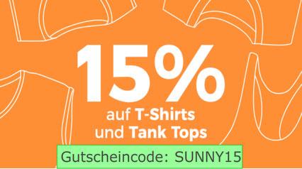 15% auf T-Shirts und Tank Tops