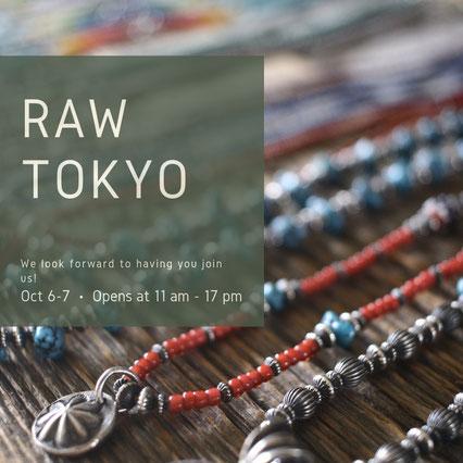 RAW TOKYO に出店いたします。
