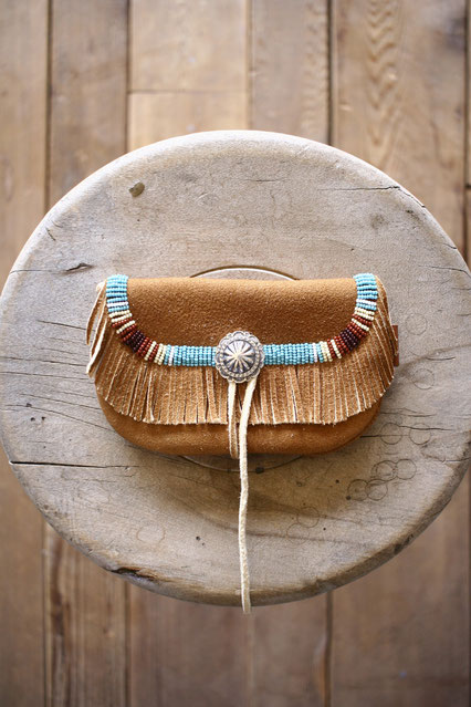 Deer Skin Mini Pouch