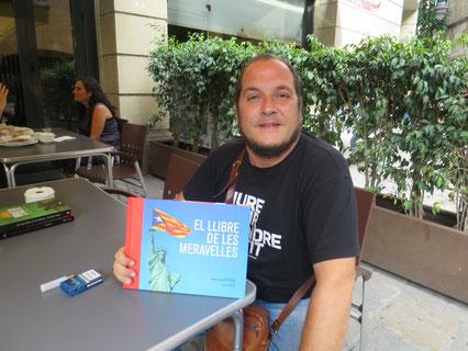 David Fernàndez, Plaça de la Catedral (Barcelona) 8 de setembre. No em va abraçar però va dir «Adéu bonic»