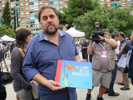 Oriol Junqueras, Cornellà, 7 de setembre. No li va fer gaire gràcia.