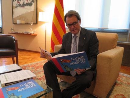 Artur Mas, Palau de la Generalitat, 8 de setembre. Va riure obertament.