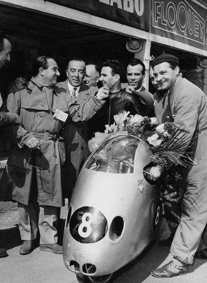 Vers 1956 CARLO UBBIALI et DOMENICO AGUSTA