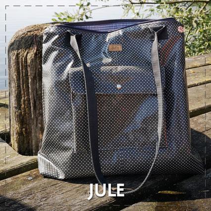 Julia Design Handarbeit handmade Tasche bag Stoff Shopper Jule