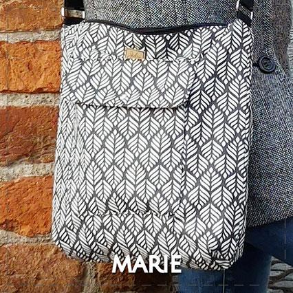 Julia Design Handarbeit handmade Stoff Tasche bag Umhängetasche Marie