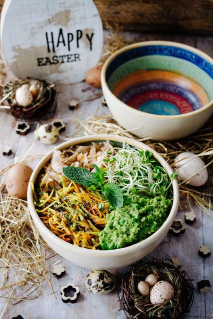 Veganes Rohkost Bowl Rezept zu Ostern
