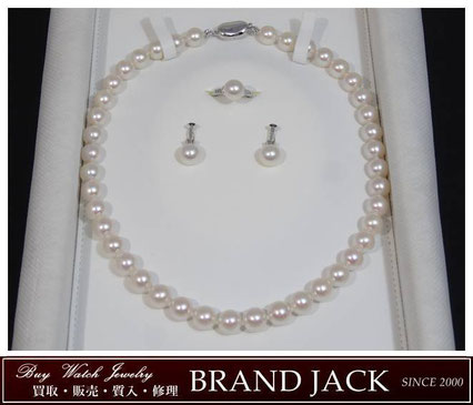 仙台|オーロラ花珠 真珠ネックレス パールリング イヤリング 真珠科学研究所を高額買取