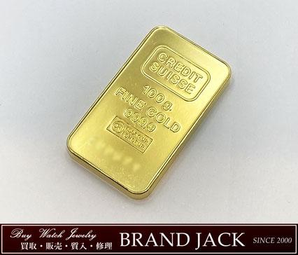 仙台で純金インゴット クレディスイス 100g K24IGを高額買取
