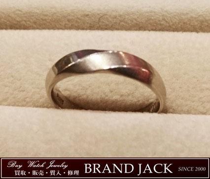仙台|プラチナリング Pt585 結婚指輪 イニシャル刻印有を高額買取