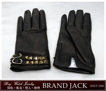 仙台|ヴァレンティノ・ガラヴァーニ レザー ロックスタッズ グローブ 手袋を高額買取