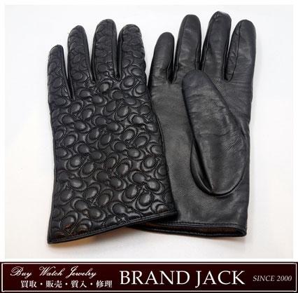 仙台|コーチ COACH レザーグローブ 手袋 シグネチャーを高額買取