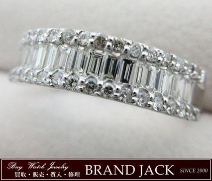仙台|ダイヤモンド 総0.7ct Pt900リング 指輪を高額買取