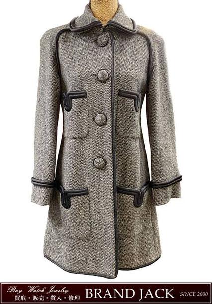 シャネル ツイード ボタン ロングコート 洋服を仙台で高額買取