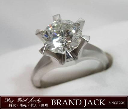 ダイヤモンド 2.15ct Pt850 立て爪リング 指輪を仙台で高額買取