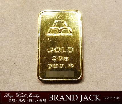 仙台で日本マテリアル 純金 K24IG 20g インゴットを高額買取