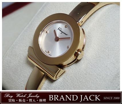 仙台|サルヴァトーレ フェラガモ ガンチーニ バングル腕時計 FQ5040013を高額買取