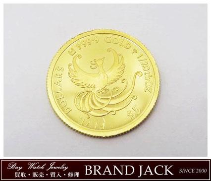 仙台で金貨 フェニックス 不死鳥 K24 純金 コイン 999.9 クック諸島を高額買取