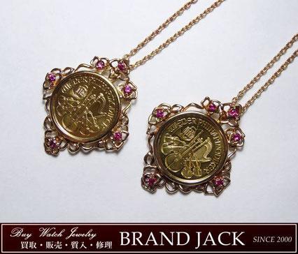 仙台|オーストリア ウィーン金貨 110オンス K24純金 ネックレスを高額買取