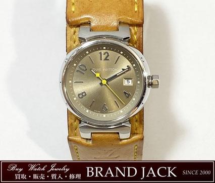 ルイヴィトン タンブール Q1212 時計 ヌメ革ベルトを仙台で高額買取