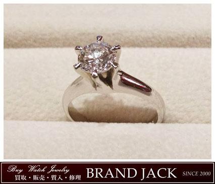 仙台|ダイヤモンド D1.01ct リング Pt900指輪を高額買取