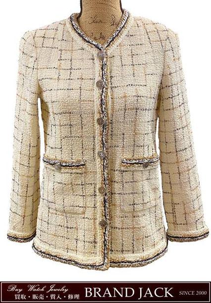 シャネル ボタン ジャケット P56399 洋服を仙台で高額買取