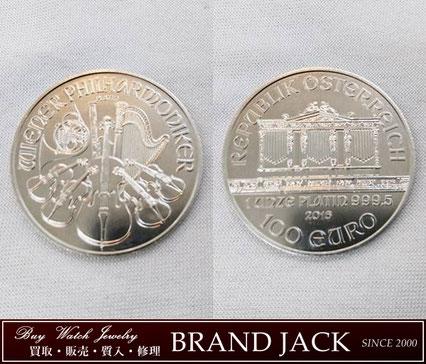 仙台でプラチナ ウィーンコイン ハーモニー 1オンス プラチナ貨 999.5を高額買取