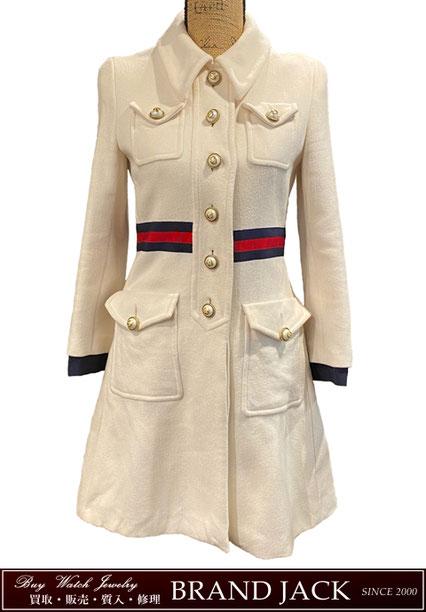 グッチ シェリーライン メルトンコート 洋服を仙台で高額買取