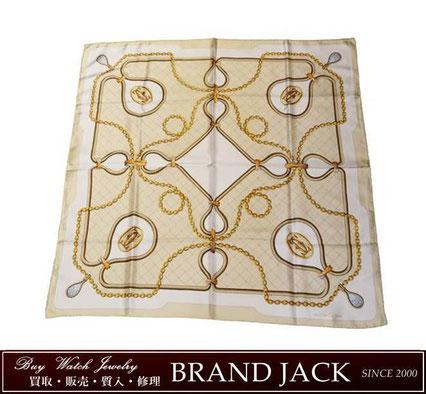 仙台|カルティエ Cartier スカーフ シルク100% ジュエリー柄を高額買取