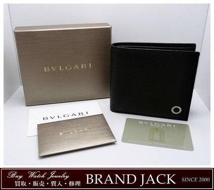 仙台|ブルガリ ブルガリ マン 二つ折り財布 レザー 30396を高額買取