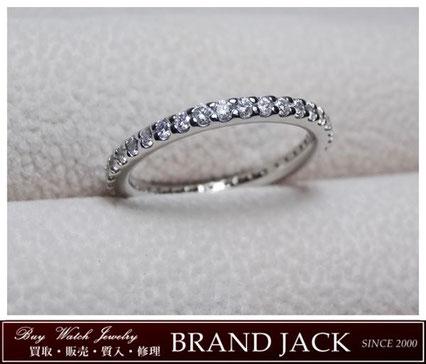 仙台|スタージュエリー Pt950 ダイヤモンド フルエタニティ リング 指輪を高額買取
