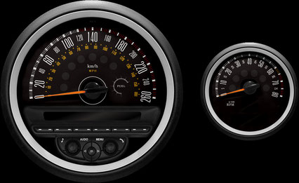 R56 Hatch/55 CLUBMAN/57 Convertible/58 Coupe/59 Roadster mini専用メーター model-MINIMAX 260km/h ver.2 インテリア 内装 パーツ