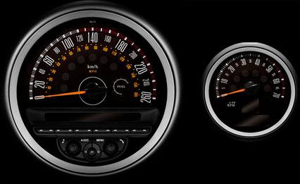 R60 CRSSOVER/R61 PACEMAN mini専用メーター model-MINIMAX 260km/h ver.2 インテリア 内装 パーツ
