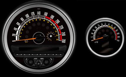 R60 CROSSOVER R61 PACEMAN MINI専用 model-8002 インテリアパーツ 内装 メーター