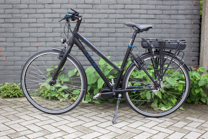 Trek X500  met ombouwset Middenmotor van FONebike Fiets Ombouwcentrum Nederland