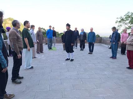 Qigong Wissensvermittlung durch den Abt im Kloster in China