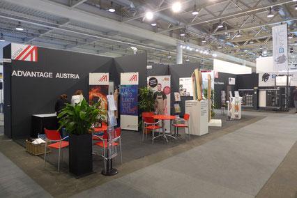 Österreichischer Gruppenstand an der Swissbau 2016 in Basel