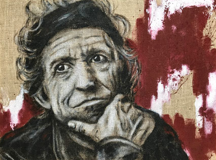 Keith Richards, Acryl auf Leinwand, 80x60 cm
