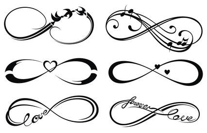 2 temporäre Tattoos mit 2 von 6 Unendlichkeitsmotiven von ksysha