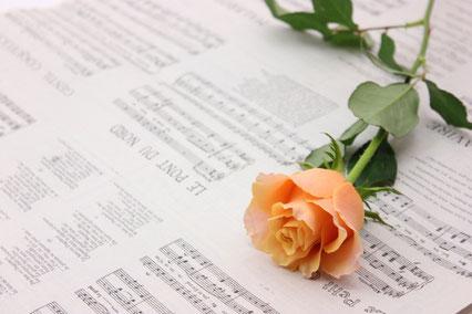 黄色のバラ。ギフトボックス。封筒。