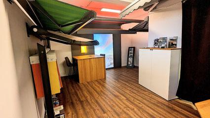 Kassettenmarkisen mit LED und tollen Tüchern