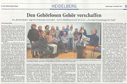 Rhein-Neckar-Zeitung 11.12.2014